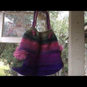Vintage Felted Wool Sweater Custom BOHO RainbowBag